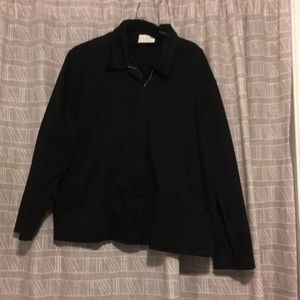 Black zip blazer